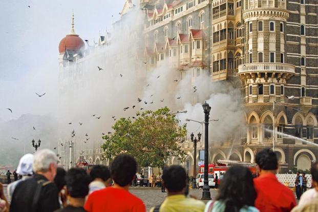 The Taj Mahal hotel in Mumbai, 29 November 2008. Photo: Uriel Sinai/Getty Images